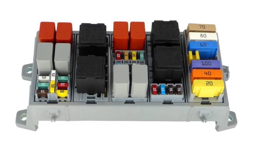 mta fuse and relay holder for 4 way mini fuses and 2 way relay MTA Fuse Block at Modular Fuse Box Mta
